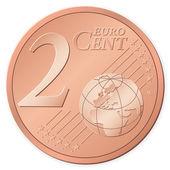 2 euro cent — Stock Vector