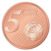 5 euro cent — Stock Vector