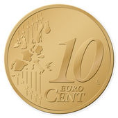 10 euro cent — Stock Vector