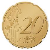 20 euro cent — Stock Vector