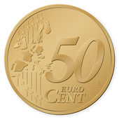 50 euro cent — Stock Vector