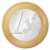 1 euro coin — Stock Vector