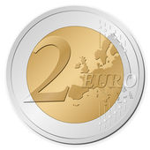 κέρμα των 2 ευρώ — Διανυσματικό Αρχείο
