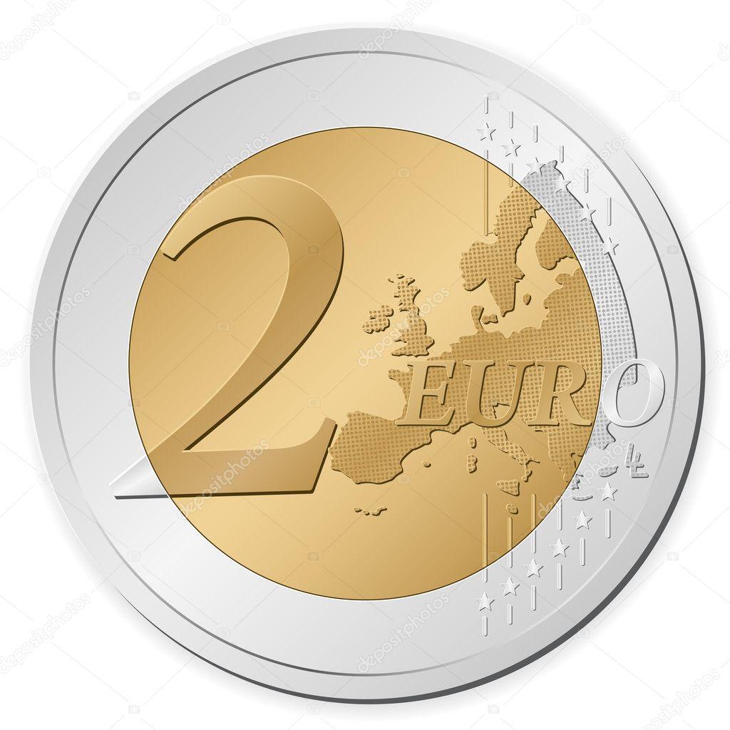 2 euro coin stock vector 4383790 - Stock piastrelle 2 euro ...