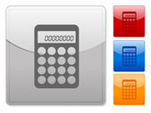 Square web buttons calculator — Stock Vector