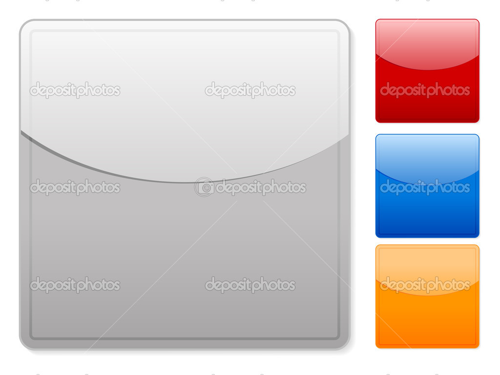 Color square web buttons empty on a white background. Vector illustration. — Stock Vector #4598184