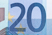 Macro twenty euro 2 — Stock Photo