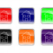 Royalty-Free Stock Vector Image: Button house