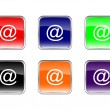 Buttons email — Stock Vector #4834877