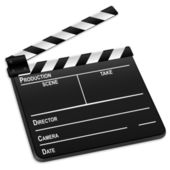 3d film slate — Stock Vector
