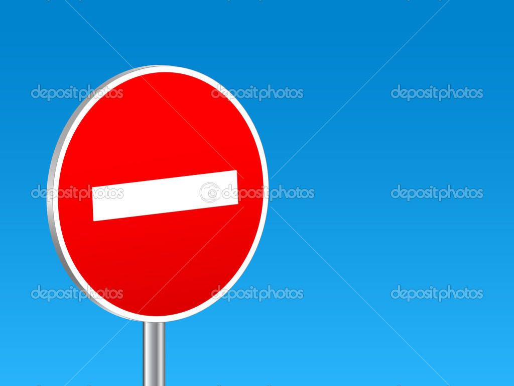 3d sign do not enter on a blue background. Vector illustration. — Stock Vector #4834851