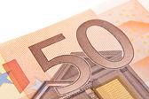 Macro fifty euro — Stock Photo