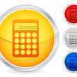 Stock Vector: Calculator button