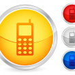 Royalty-Free Stock Vector Image: Mobile phone button