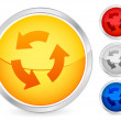 Recycle symbol button 2 — Stock Vector