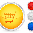 Shopping cart button — Stock Vector