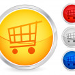 Shopping cart button 2 — Stock Vector