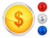 долларовая кнопка — Cтоковый вектор