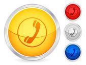 Phone button — Vector de stock