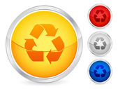 Recycle symbol button — Stock Vector