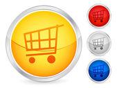 Shopping cart button 2 — Stock Vector