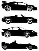 Conjunto de vetor de carros esporte — Vetorial Stock