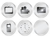 Icona cerchio di elettronica 2 — Vettoriale Stock