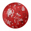 Red disco ball — Stock Vector