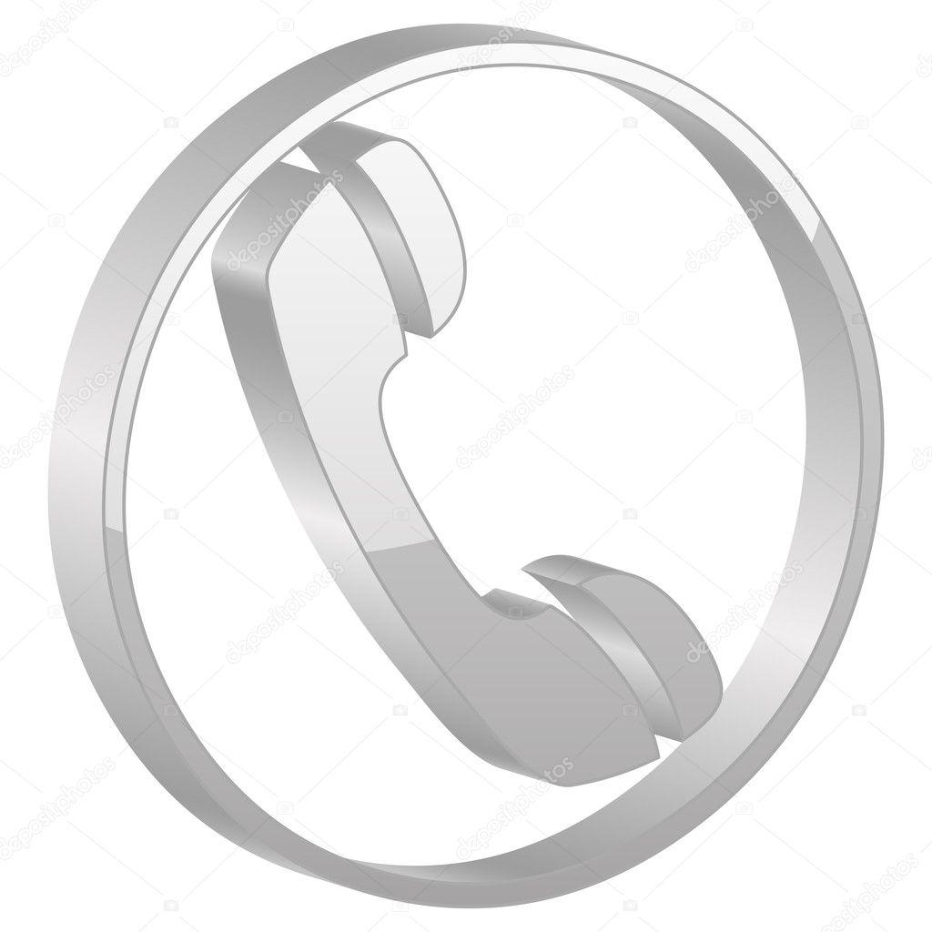 grey telephone symbol stock vector julydfg 5130382. Black Bedroom Furniture Sets. Home Design Ideas