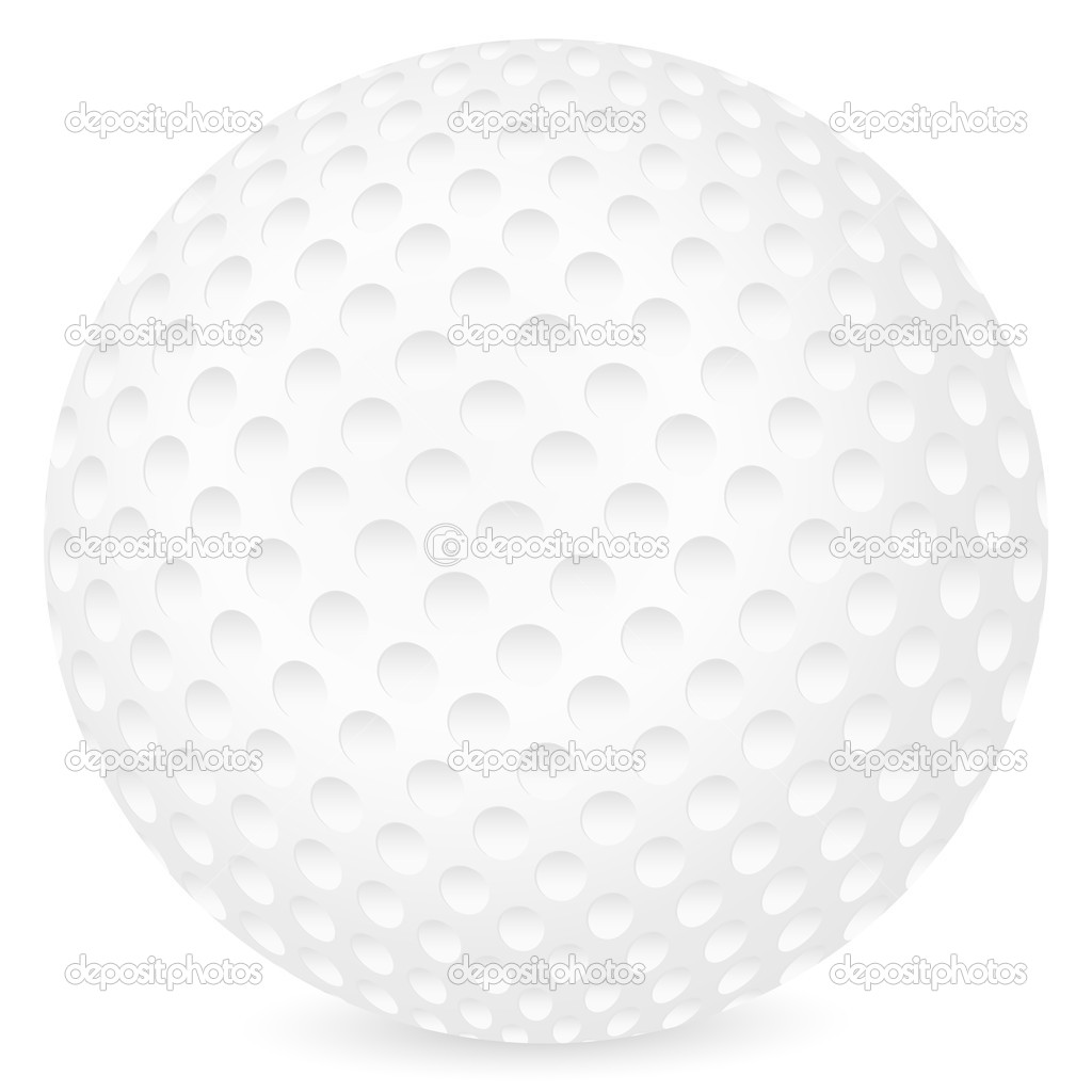 Golf ball isolated on a white background. Vector illustration.  Stock Vector #5130393