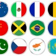 National flags circle icon set 2 — Stock Vector