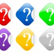 Question square stickers — Stock Vector #5280877