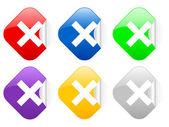 Cancel square stickers — Stock Vector