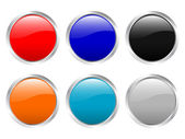 Glossy buttons empty — Stock Vector