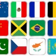 Royalty-Free Stock Vector Image: National flags square icon set 2