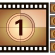 Film countdown 2 — Stock Vector