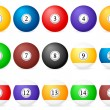Stock Vector: Pool balls