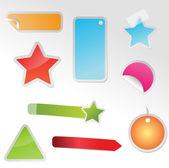 Conjunto de etiquetas multicoloras — Vector de stock