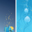 Two christmas banner — Stock Vector