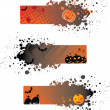 Halloween grunge banners - Stock Vector