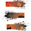grunge Halloween banners — Vector de stock