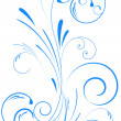 Floral swirl ornament - Stockvectorbeeld