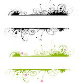 Grunge banner frame in two colors — Stock Vector