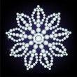 Snowflake made from diamonds. - Grafika wektorowa