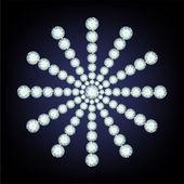 Floco de neve feito de diamantes. — Vetorial Stock