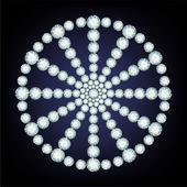Sneeuwvlok gemaakt van diamanten. — Stockvector