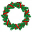Christmas pine garland - Stock Vector
