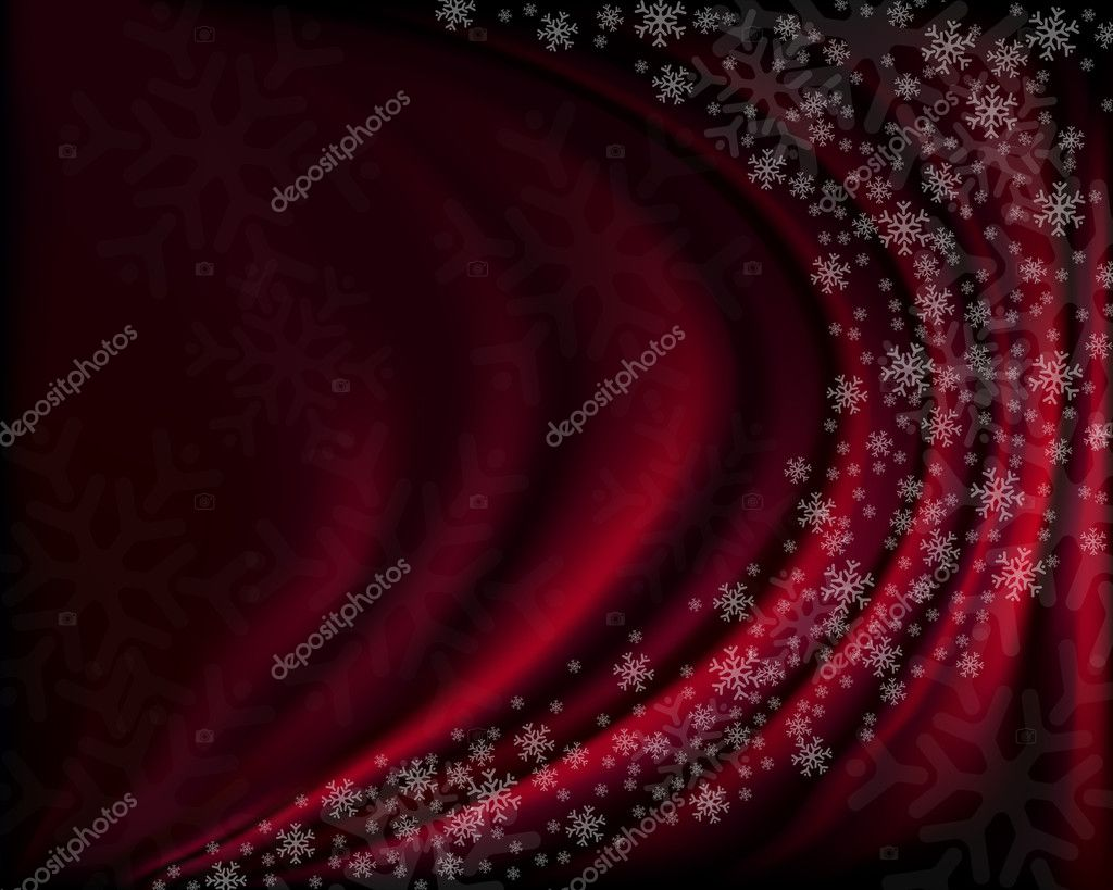 Winter red background with snowflakes. Vector illustration — Stock Vector #4262310