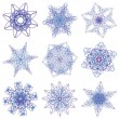 Abstract Christmas snowflake — Stock Photo #4303382