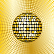 Stock Photo: Abstract gold disco ball